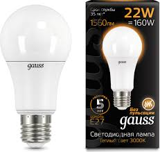 <b>Лампочка Gauss</b> Black LED, A70, E27, 22W. 102502122 — купить в ...
