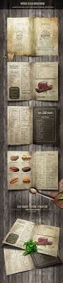 room manchester menu design mdog: vintage old a bifold menu  pages psd template drinks menu
