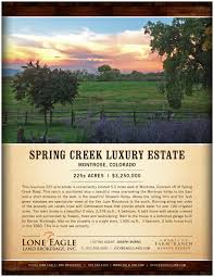 new listing spring creek luxury estate colorado ranch real click to full flyer