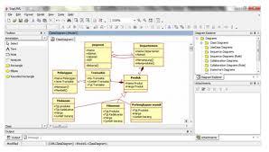 class diagram adalah     contoh kasus class diagram   info okeclass   table departemen memiliki ber agregasi dengan class   table pegawai alasannya karena departemen dapat berdiri sendiri tanpa ada pegawai tetapi