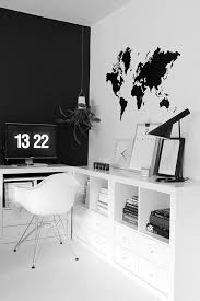 via nordic leaves home office black and white aj desk lamp eames black and white office