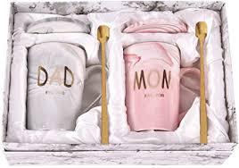 Dad and Mom Marble Coffee Mug Set Est 2020 New ... - Amazon.com