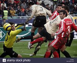karimi stock photos karimi stock images page alamy s perspolis goalkeeper farshid karimi l tries to control the ball during a friendly