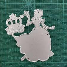 bride Crown Metal <b>Cutting Die</b> Stencil Template for DIY Embossing ...