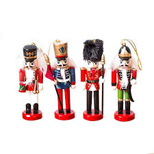 Biback <b>Wooden</b> Soldier Nutcracker Puppet Christmas Decorations ...