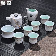 Gongfu <b>Tea Set Chinese</b> Teapot Teacups Gaiwan Ceramic <b>Coffee</b> ...