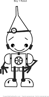 Small Picture Boy 1 Robot Coloring Page httpwwwkidscanhavefuncomrobot