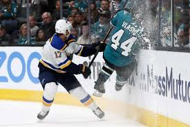 Game 2 swoons continue for Sharks as Blues even Western ...