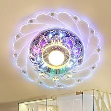 peacock style crystal ceiling lights led round aisle lighting entrance hallway sconce lights lamp surface mount cheap sconce lighting