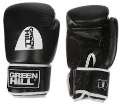 """<b>Перчатки боксерские Green</b> Hill """"Gym"""", цвет: черный, белый. Вес ..."""