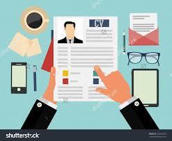 job interview concept business cv resume stock vector  job interview concept business cv resume