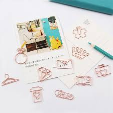 <b>TUTU free shipping Rose</b> Gold Paper Clips Bookmark Planner Tools ...