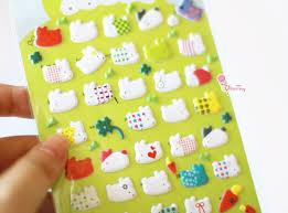 Mr. Rabbit Designer Squishy Embossed <b>Stickers</b> (Kawaii <b>Patterns</b> ...