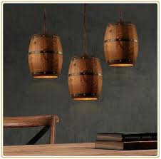 New Design <b>American</b>-style Creative Wooden Barrel Pendant ...