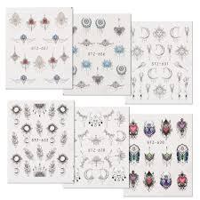 UIEEPGP  <b>6 Sheets</b> Necklace Moon Butterfly Water Transfer <b>Nail</b> Art ...