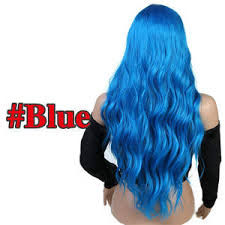 Buy blue wavy wig Online with Discount Price