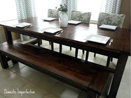 7ft dining table: diy farmhouse table and bench img ew diy farmhouse table and bench