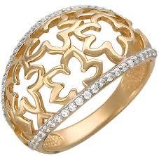 Купить Золотое <b>кольцо</b> Эстет 01K116604 с фианитами | «ТуТи ...