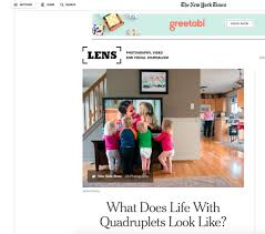 ny times introduces readers to lds family quadruplets in ny times introduces readers to lds family quadruplets in photo essay