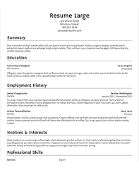 sample resume · resume comselect template large