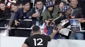 All Blacks v Wales: <b>Sonny Bill Williams</b> gives his boots to young fan ...