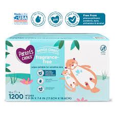 Parent's Choice <b>Fragrance Free Baby</b> Wipes, 12 Flip-Top Packs ...