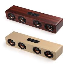 W8 <b>wooden</b> bluetooth speaker Stereo subwoofer <b>20W</b> sound tyrant ...