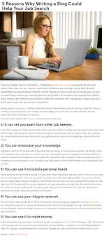 reasons why writing a blog could help your job search ion 5 reasons why writing a blog could help your job search