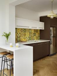 design compact kitchen ideas small layout: charming white wooden l shaped small kitchen design ideas with dark brown cabinets polished in open kitchen designs