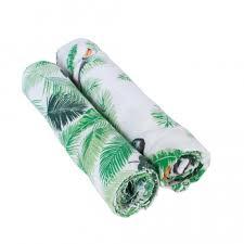 <b>Муслиновые пеленки</b> 2 шт. <b>Bebe au</b> Lait Rio/Palms - Ju-Ju-Be