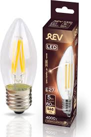 <b>Лампочка REV Deco Premium</b> Filament С37, Холодный свет, E27 ...