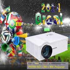 PH580 LCD 3200 Lumens 2000:1 Contrast LED Projector Support ...