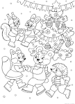 Раскраски новогодних животных