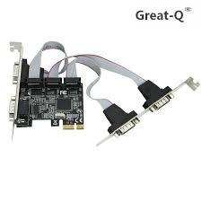 <b>Great Q</b> High quality MOSCHIP PCI express 4 ports Serial PCI e 1x ...