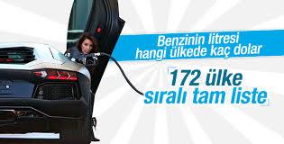 Benzinin litre fiyatı hangi ülkede kaç dolar