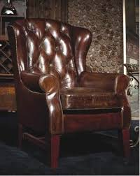 Phoenixarts <b>Chesterfield</b> Vintage Leather <b>Armchair</b> Brown <b>Black</b> ...