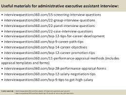 top administrative executive assistant interview questions and ans 16 useful materials for administrative executive assistant interview