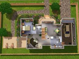 Mod The Sims   Park AvenueFirst floor floor plan  When you enter the house you come to a open hall joined to dining area  There are also stares leading to second floor