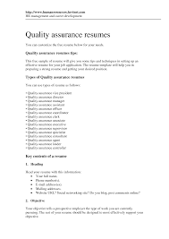 sample resume objective for quality assurance shopgrat software quality assurance resume samples writing tips sample resume objective for quality