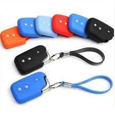 1Pc <b>Black</b> Silicone <b>Smart Car</b> Key Case Cover Fob Protector ...