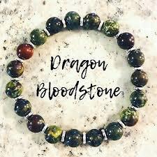 Dragon <b>BLOODSTONE</b> Bracelet 925 Sterling <b>Silver Genuine</b> AAA ...