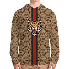 "<b>Толстовка с полной</b> запечаткой ""Tiger"" в стиле Gucci #2982485 от ..."