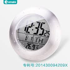 small bathroom clock:  led digital waterproof font b bathroom b font electric wall font b clock b font modern