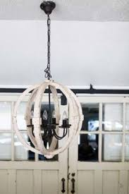 distressed wood cream round pendant amelie distressed chandelier perfect lighting