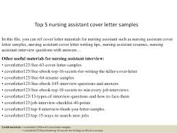 top 5 nursing assistant cover letter samples in this file you can ref cover letter cna cover letter sample
