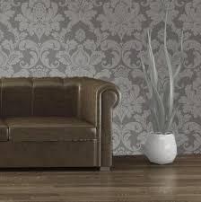 room elegant wallpaper bedroom: vintage elegant embossed glitter bedroom wallpaper gray silver