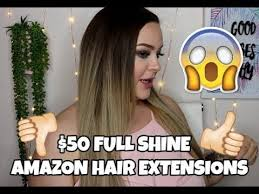 CHEAP <b>CLIP IN</b> EXTENSIONS FROM AMAZON | <b>Full Shine</b> Hair ...