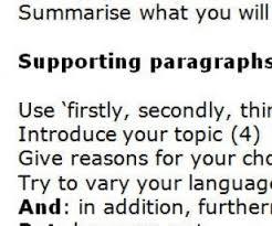 outline for a five paragraph essay