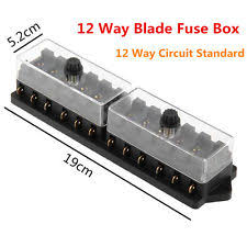 blade fuse box pins car boat 12 way pin circuit standard ato blade fuse box block holder plug 12v