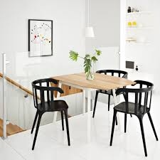 dining room sets ikea: ikea ps  drop leaf table in bamboo white seats   with